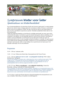 Symposium Water voor later