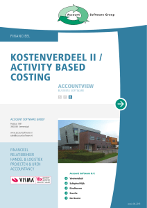 Kostenverdeel II / Activity Based Costing