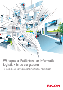 Whitepaper patient- en -informatielogistiek