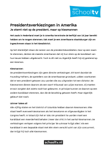 Presidentsverkiezingen in Amerika