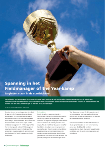 Spanning in het Fieldmanager of the Year-kamp