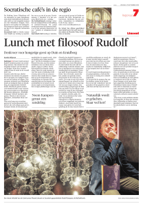 Lunch met filosoof Rudolf