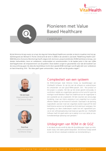 Pionieren met Value Based Healthcare