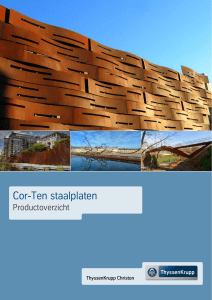 Cor-Ten staalplaten - ThyssenKrupp Christon