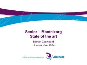 Mantelzorg State of the art