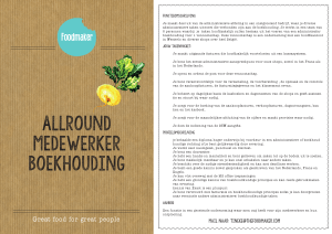 Boekhouding - The Foodmaker