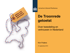 Opening door prof. dr. Kim Putters – De troonrede getoetst. Over