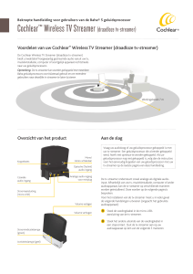 Cochlear™Wireless TV Streamer(draadloze tv