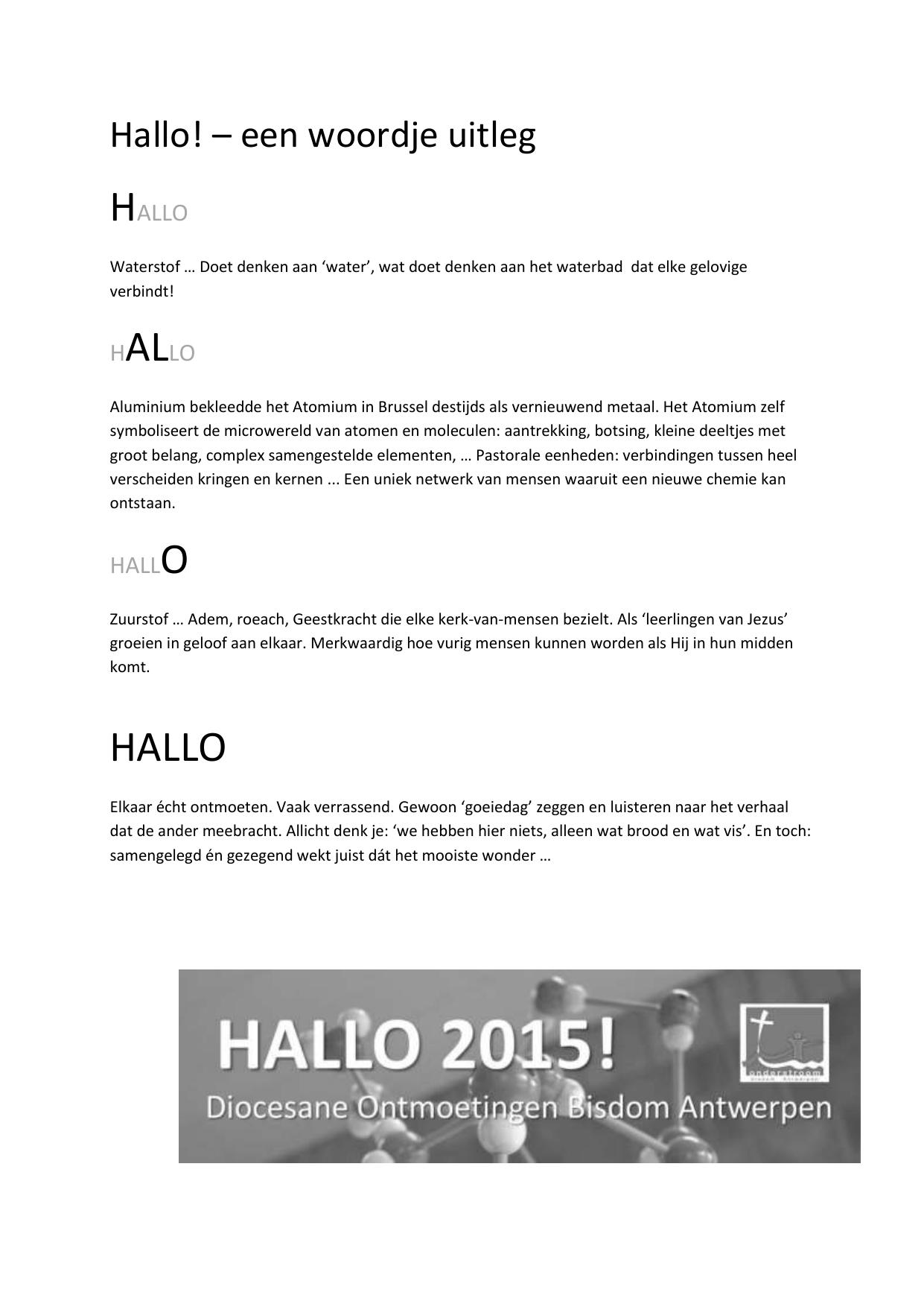 Hallo2015 Een Woordje Uitleg