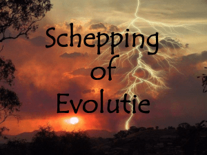 Schepping of Evolutie