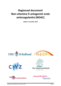 Regionaal document Non-vitamine K antagonist orale