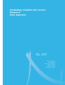 Handleiding: Installatie citrix receiver Windows 8