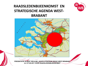 Powerpoint Presentatie Strategische Agenda 7 september