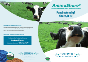 Pensbestendig? Shure, it is! - Speerstra Feed Ingredients bv