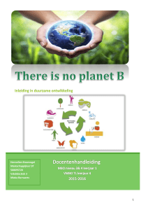 There is no planet B - Vakdidactiek maatschappijleer