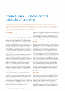 Chemie-Pack - Lessons learned juridische afhandeling