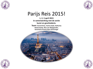 Parijs Reis 2013! - Cartesius Lyceum