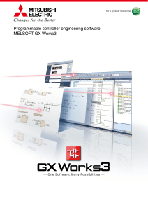 Programmable controller engineering softwareMELSOFT GX Works3