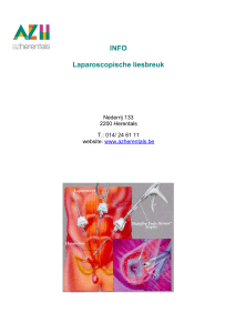 info laparoscopische galblaas of laparoscopische cholecystectomie