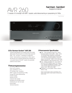AVR 260 - Harman Kardon