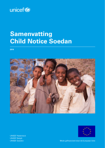 Samenvatting Child Notice Soedan