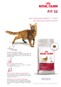 Royal Canin Fit 32 Folder.