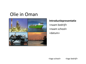 Olie in Oman - Introductiepresentatie - Jet-Net