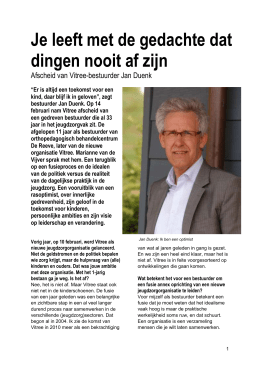 Interview Jan Duenk