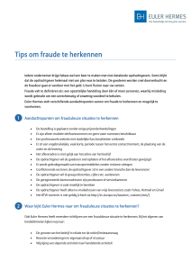 Tips om fraude te herkennen