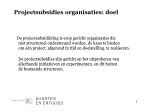 Projectsubsidies organisaties