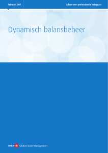 Dynamisch balansbeheer - BMO Global Asset Management