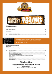 Draaiboek Peanuts basketball - Nederlandse Basketball Bond