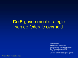 E-Government - Frank Robben`s webpage