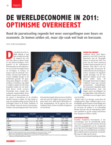 de wereldeconomie in 2011: optimisme overheerst