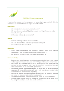 CHECKLIST: communicatie