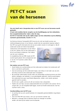 PET-CT scan van de hersenen - Neurochirurgisch Centrum
