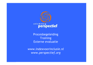 Procesbegeleiding Training Externe evaluatie www