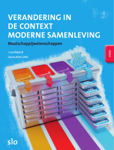 verandering in de context moderne samenleving - Downloads