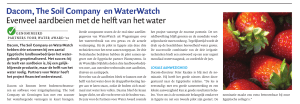 Dacom, The Soil Company en WaterWatch Evenveel aardbeien met