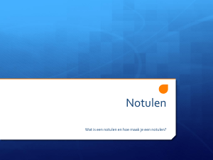 Notulen - WordPress.com