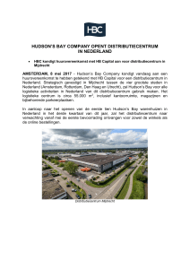 hudson`s bay company opent distributiecentrum in