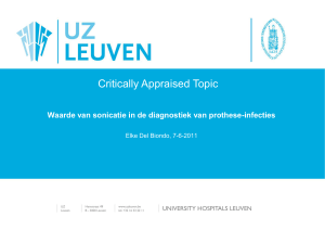 Prothese-infecties: diagnostiek