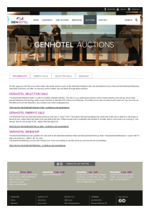 Auctions - GenHotel