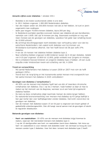 Actuele cijfers over diabetes – oktober 2011 - Diabetes is de