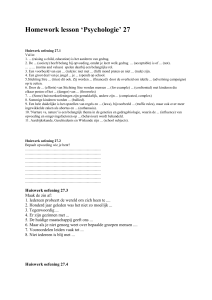 Homework lesson `Psychologie` 27