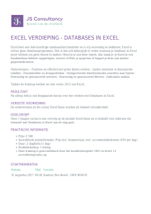 excel verdieping - databases in excel