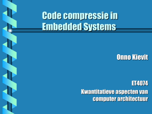 Code compressie in Embedded Systems