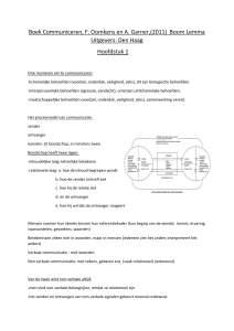 samenvatting communiceren H1,2,3