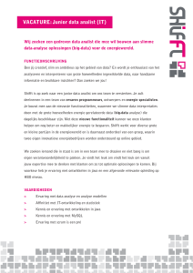VACATURE: Junior data analist (IT)
