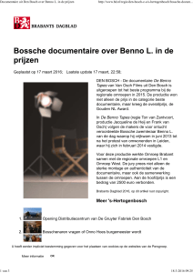 Documentaire uit Den Bosch over Benno L. in de